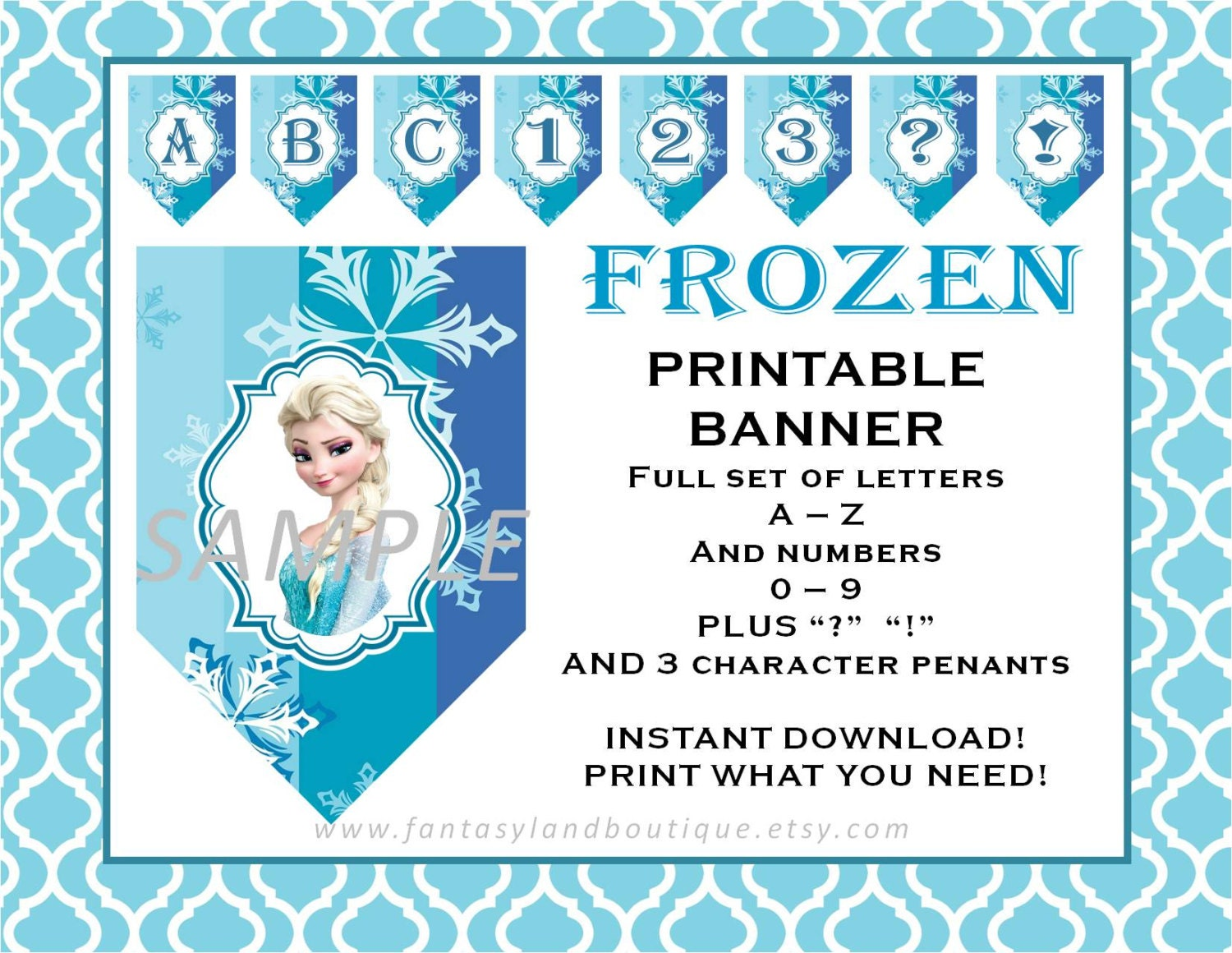 Insane image with regard to frozen banner printable