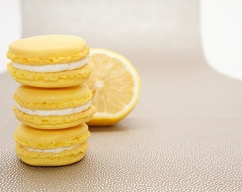 Lemon Macarons - one dozen