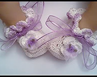 New Born , Premiee, Baby Ruffle Booties / Shoes, Cotton Crochet *** PATTERN ***