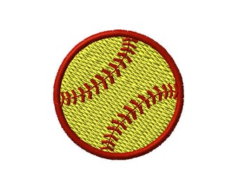 Softball Machine Embroidery Design