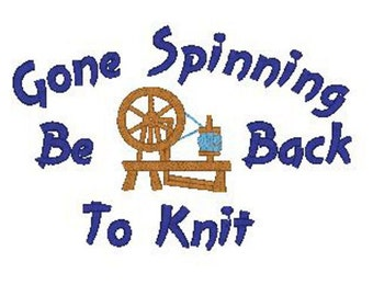 Gone Spinning Be Back to Knit Machine Embroidery Design
