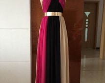 Hot Selling Colorful Chiffon High Quality Handmade Prom Evening Dresses 2014