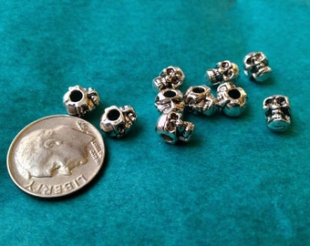 Wrap Jewelry Add-Ons - 10 Skull Beads
