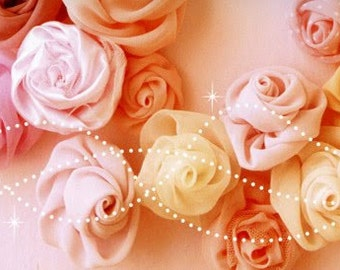 DIY Fabric Flowers, How to Fabric Flower, Fabric Rose Maker, Small Size