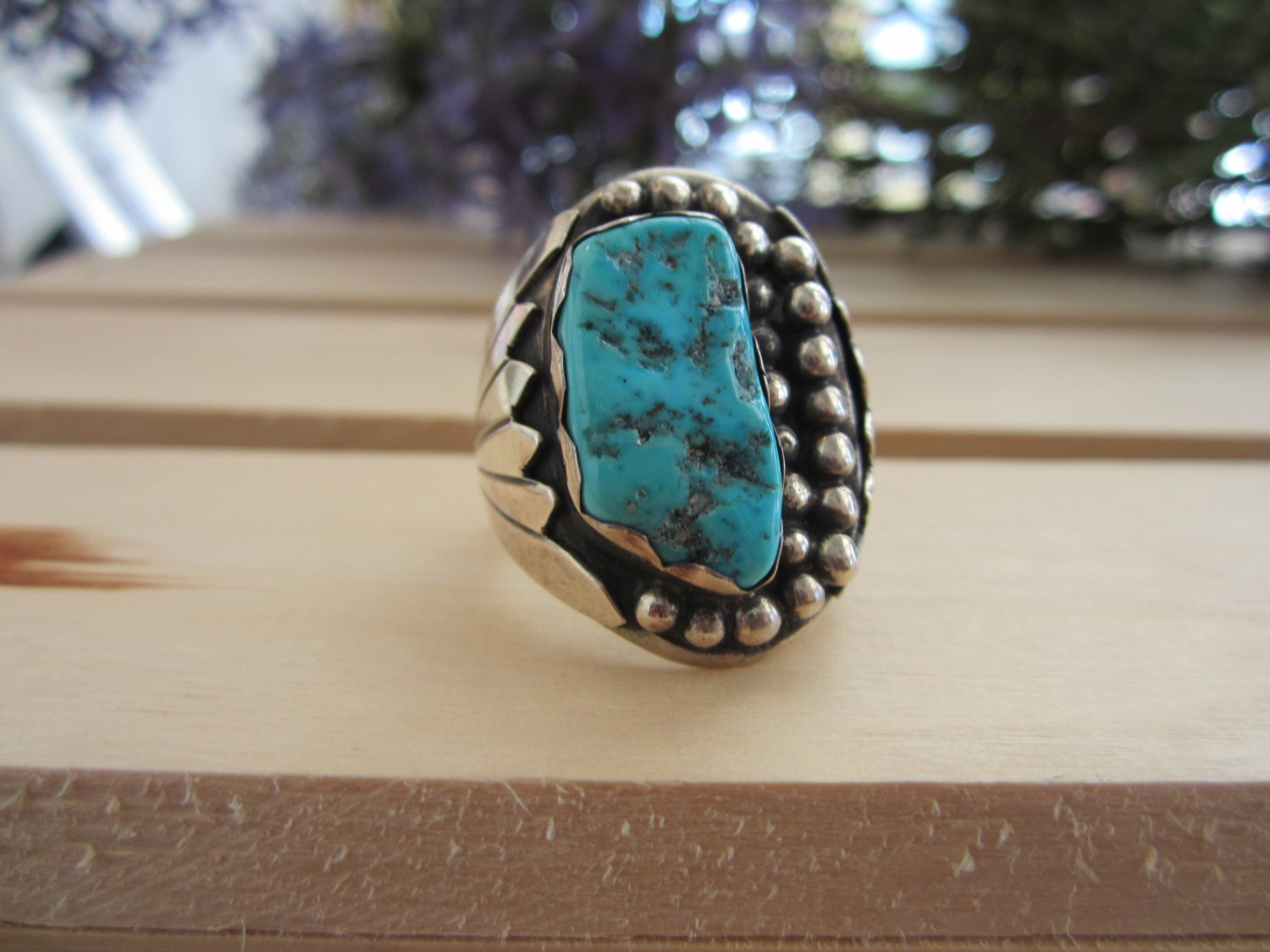 sterling silver s turquoise ring large turquoise