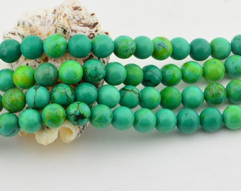 "16""  Yellow  Green  Turquoise  8MM  Gemstone Beads Bead"