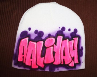 Personalized Beanie Hat, Birthday Hat, Personalized Hat, Personalized Beanie, Girls Beanie, Graffiti Hat, Winter, Ski Hat, Graffi Party