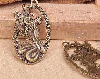 5 Lovely Angel/Fairy Oval Chams/Pendants