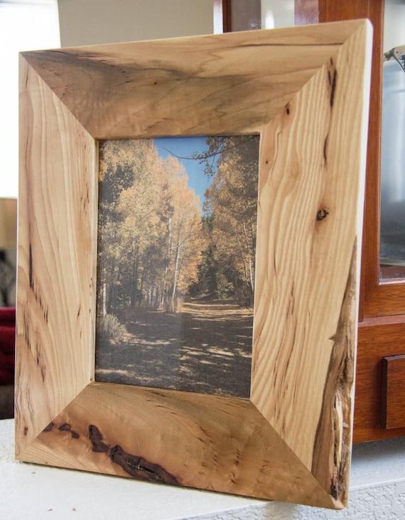 rustic hickory wood picture frame 5x7. Black Bedroom Furniture Sets. Home Design Ideas