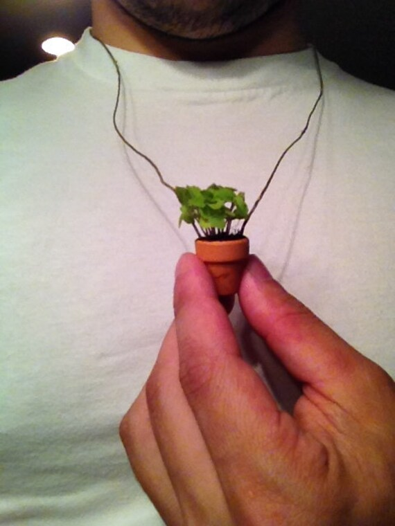Plant Necklace | Wearable Plant Friend