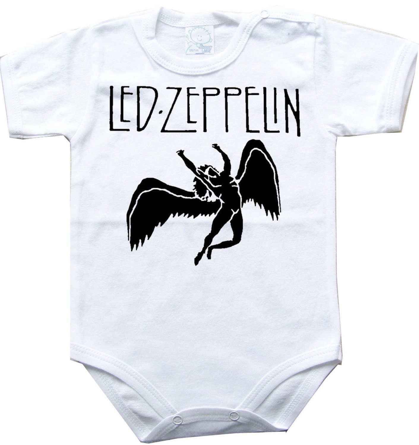 Baby bodysuit led zeppelin 2 rock hard funk one by 000superbaby000