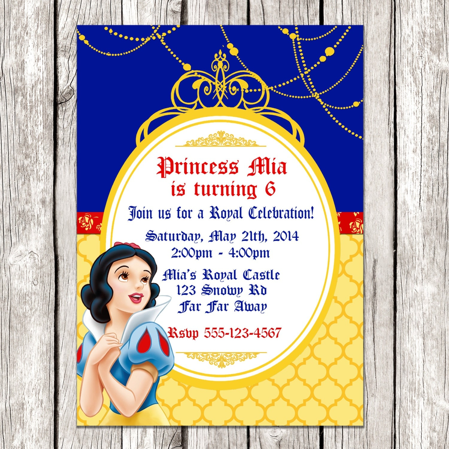 Dynamite image within snow white invitations printable