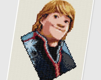 PDF Cross Stitch pattern - 0208.Kristoff (Frozen) - INSTANT DOWNLOAD