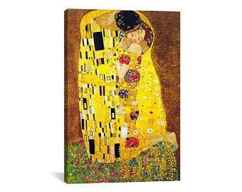The Kiss By Gustav Klimt Canvas Print | Gallery Framed | 20% off SALE at Checkout Use Coupon Code: FEB20A