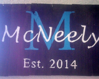 Last Name Pallet Signs