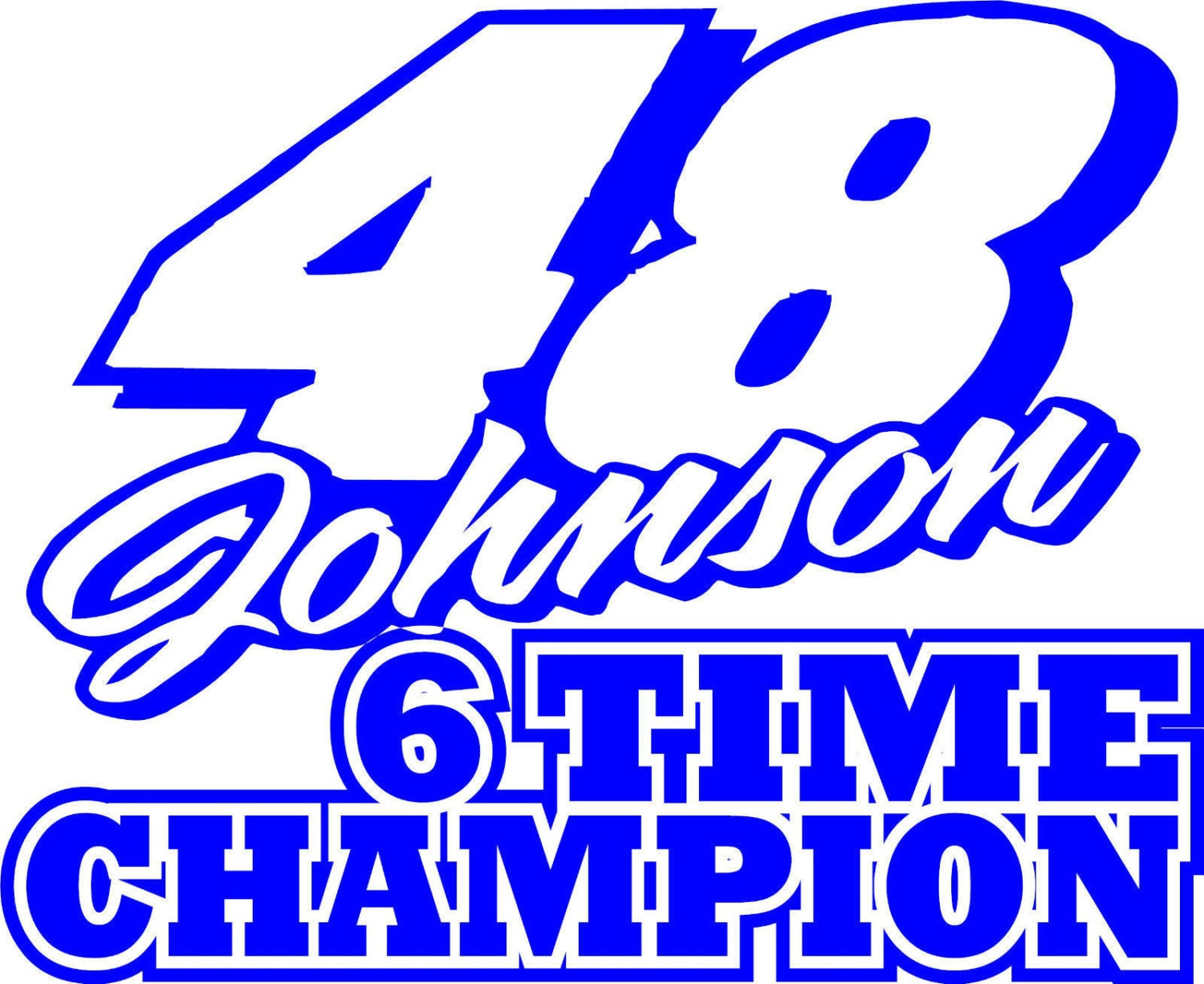 jimmie johnson decal free shipping