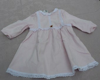 little dress pink and lace vintage