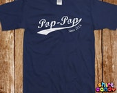 Pop Pop Since T shirt Father's Day Custom Gift With Any Year For Dad Personalized Best Dad Birthday Gift For Him Tee Cool New Father Husband