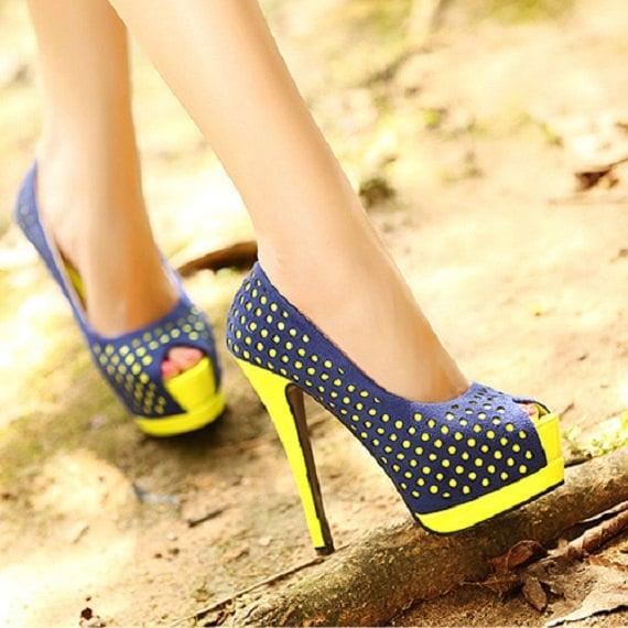 Fashion Round Toe Peep Stiletto High Heel Basic Black Pumps     QJ131217437-1