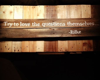 Love the Questions Rilke quote
