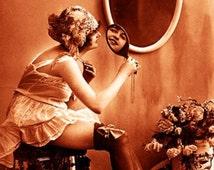 """Vintage Risque Nude Exotic - Boudoir #005 Canvas Art Poster 16"""" x 24"""""""