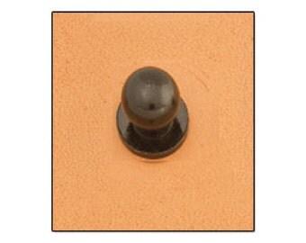 Button Stud 7mm Screwback Black 11309-17