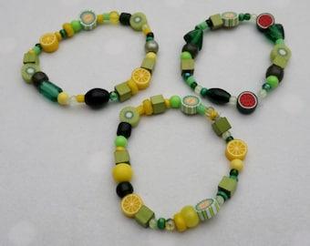 Green/yellow bracelet