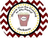 Movie Night Tag, Popcorn Favor Tag, Printable DIY Party Decorations, Popcorn Tag, Thank You Tagn Party Favor, Ready to Pop Tag, Popcorn Tag