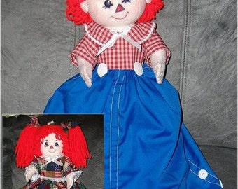 """16"""" Raggedy Ann and Andy Topsy Turvy Pattern"""
