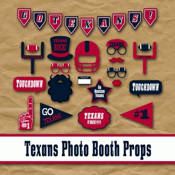 Houston Texans Football Printable Photo Booth Props