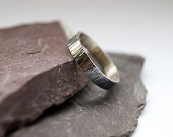 Medium Hammered Sterling Silver Ring ~ stacking ring