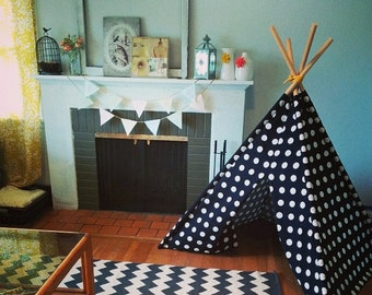 6ft Canvas Teepee - Fold Away Tepee  - Poles Included