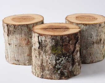 25 Rustic Place Card Holders, table number holder, oak-tree wedding table decor, rustic table number holder, woodland wedding centerpiece