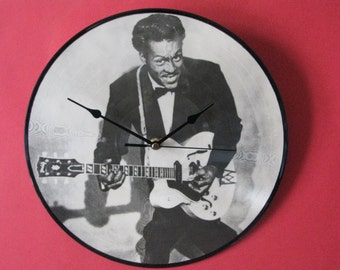 "chuck berry 12""/lp  picture disc clock"