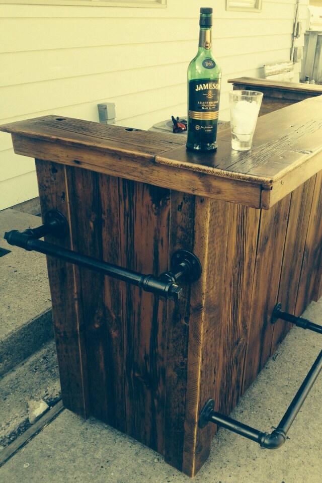 Industrial Rustic Reclaimed Barnwood Bar