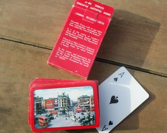 vintage deck of Playing Cards LONDON PICCADILLY CIRCUS in original box