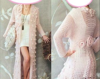 Stunning Crochet Full Length Coat - Made to Order