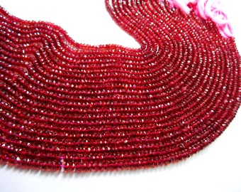 13.5 Inches super RED Garnet Beads Micro Faceted Rondelles Beads  3 MM