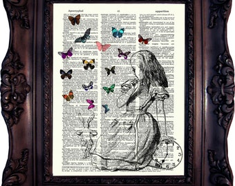 Handmade alice in wonderland decor etsy Alice and wonderland art projects
