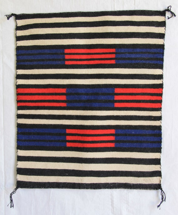 Vintage Navajo Chiefs' Revival Saddle Blanket/Rug