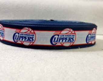 7/8 Los Angeles Clippers Grosgrain Ribbon