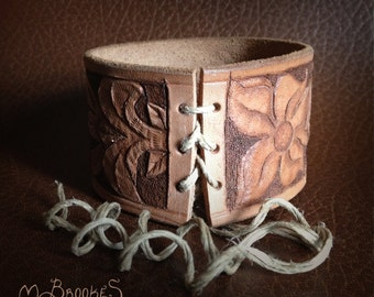 Tooled Leather Bracelet / Cuff