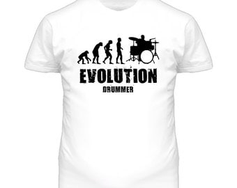 Evolution Drummer Drums T Shirt