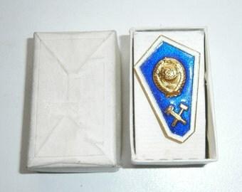 Badge.USSR badge.Float.Badge USSR educational institution.