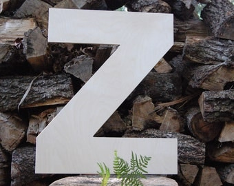unfinished 24 inch wooden letter wood letter z arial font 12 thick baltic birch wedding birthday photo prop nursery craft 24