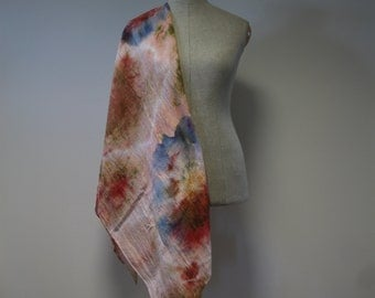 Unique shibori scarf by ZUZA BART 100% cotton light pastel colours wedding garden party