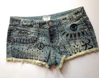 "denim cut-off shorts. ""Hipster"". by artfink"