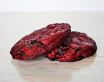 Red Velvet White Chip Cookie   Half Dozen!