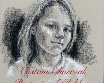 Custom Child Portrait Drawn From Your Emailed Photo