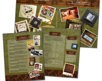 8x10 Image Folio Template - STUDIO PRODUCT Pricelist - Digital File